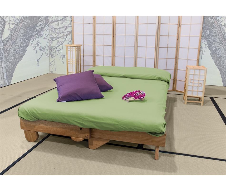 Divano letto in legno artigianale futon salice vivere zen - Divano letto futon ...