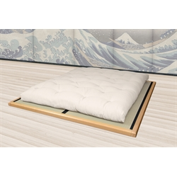 Letto tatami giapponese, in legno - Wood Frame Naturale