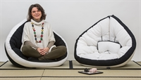 Poltrona futon con perfilo nero glove 90x200 cm vivere zen - Letto circolare ...