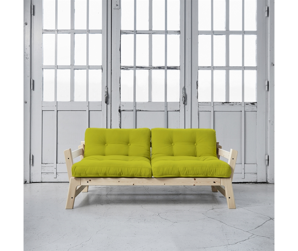 Divano letto futon step zen vivere zen - Divano verde acido ...