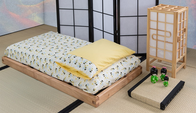 Lettino Bio Wood con futon
