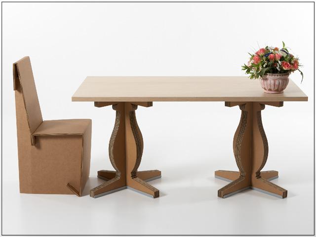 Per fare un tavolo ci vuole il cartone vivere zen for Arredi di cartone