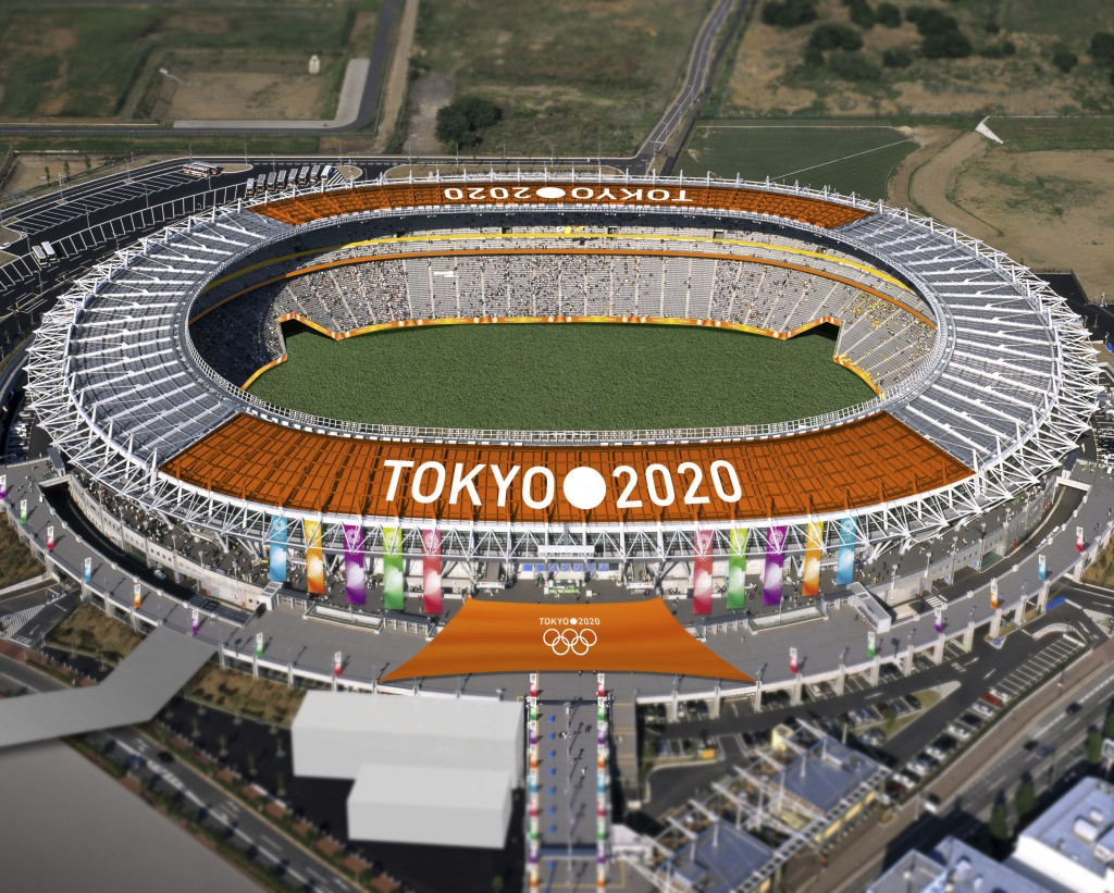 The Tokyo Stadium, one of the proposed Olympic stadiums for the 2020 Summer Olympic games, is seen in this computer-generated file handout image provided by the Tokyo 2020 Bid Committee, and released January 8, 2013. Tokyo, which hosted Asia's first Olympics in 1964, tiptoed into the bidding race for 2020 after losing out to Rio de Janeiro for 2016. REUTERS/Tokyo 2020 Bid Commitee/Handout (JAPAN - Tags: SPORT OLYMPICS) TPX IMAGES OF THE DAY) ATTENTION EDITORS - THIS IMAGE WAS PROVIDED BY A THIRD PARTY. FOR EDITORIAL USE ONLY. NOT FOR SALE FOR MARKETING OR ADVERTISING CAMPAIGNS. THIS IMAGE HAS BEEN SUPPLIED BY A THIRD PARTY. IT IS DISTRIBUTED, EXACTLY AS RECEIVED BY REUTERS, AS A SERVICE TO CLIENTS. MANDATORY CREDIT - RTR3C7EY