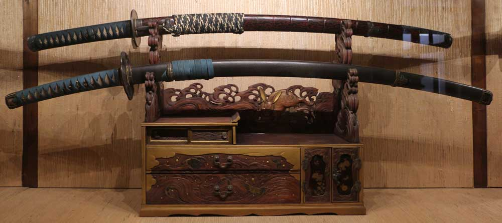 La katana da spada ad elemento per l arredamento giapponese for Ad giornale di arredamento