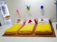 Lettino montessoriano futon