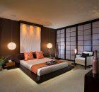 Camera da letto zen colori caldi
