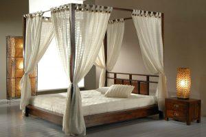 Letti in legno a baldacchino per dormire da Re - Vivere Zen