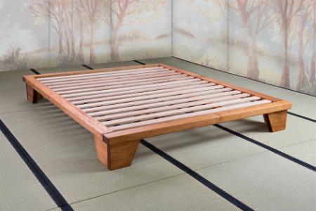 Letto in legno a incastro naturale durevole divertente vivere zen - Letto in legno naturale ...