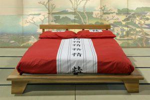 Letto in legno giapponese felce