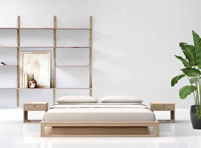 Letto in legno massiccio artigianale  Shiro